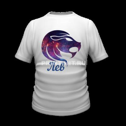 футболка знаки зодиака лев