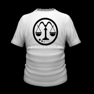 футболка знак зодиака весы