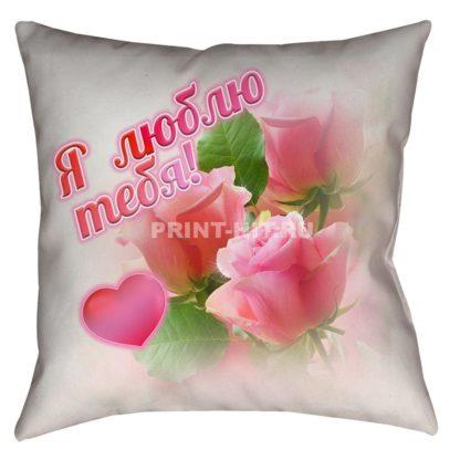 подушки под заказ розы