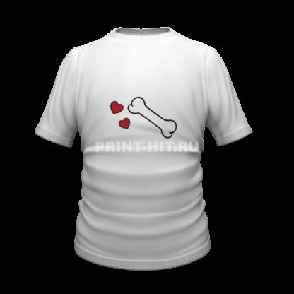 футболка парная для двоих 48